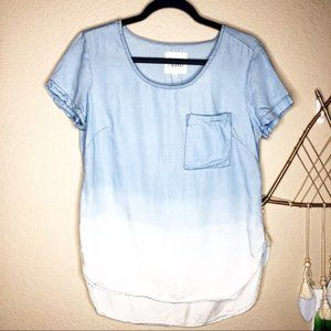 Thread & Supply | Dip Dye Chambray Top